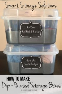 Smart Storage Solutions: How to Make Dip-Painted Storage Boxes