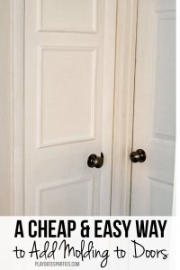 The Cheap and Easy Way to Add Molding to Your Doors