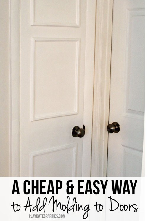 Skip tedius mitre cuts. Find out how to use Ikea Fiskbo picture frames to add molding to your doors or walls the cheap and easy way!