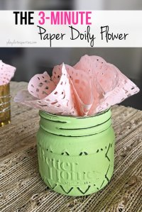 3-Minute Paper Doily Flowers: Fast, Frugal, and Fabulous