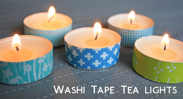 Helen Mills Washi Tape Tea Lights