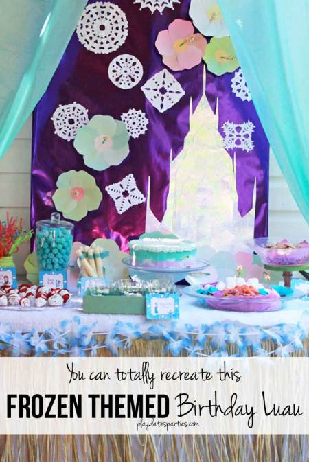 Frozen Themed Birthday Luau