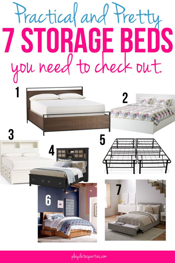 Looking to organize your bedroom with more storage? Make the most of your storage space and get organized with one of these 7 practical and pretty storage bed options. No longer big and bulky, storage beds are now sleek and beautiful while also being functional!