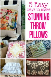 5 Easy Ways to Make Stunning Throw Pillows