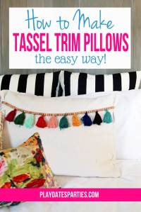 How to Make Tassel Trim Pillows…the Easy Way