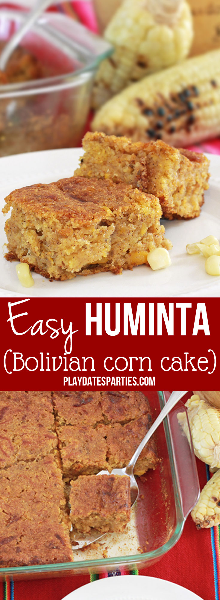 This is the most delicious and unique corn cake #recipe. Huminta, or Bolivian #corn cake is dense, sweet, and full of flavor. Take it to your next #potluck or #holiday gathering and prepare to be asked for this delicious recipe!