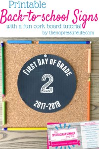Back-to-School Signs Made Easy with Free Grade Printables