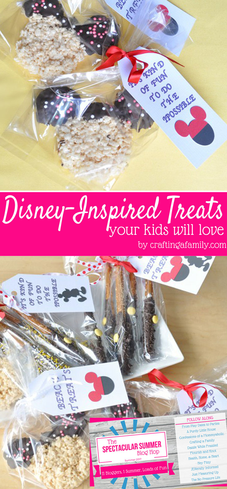 Simple Disney-inspired treats are a fun way to celebrate a love for all things Disney with your kids right from the comfort of your own home!
