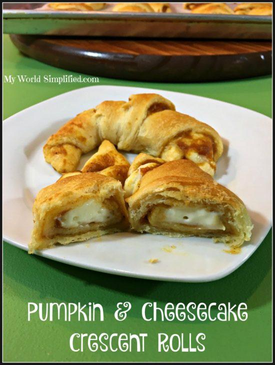 Pumpkin Cheesecake Crescent Rollsby My World Simplified