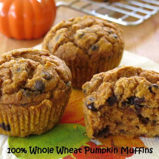 Whole Wheat Pumpkin Muffins by Dinner Mom