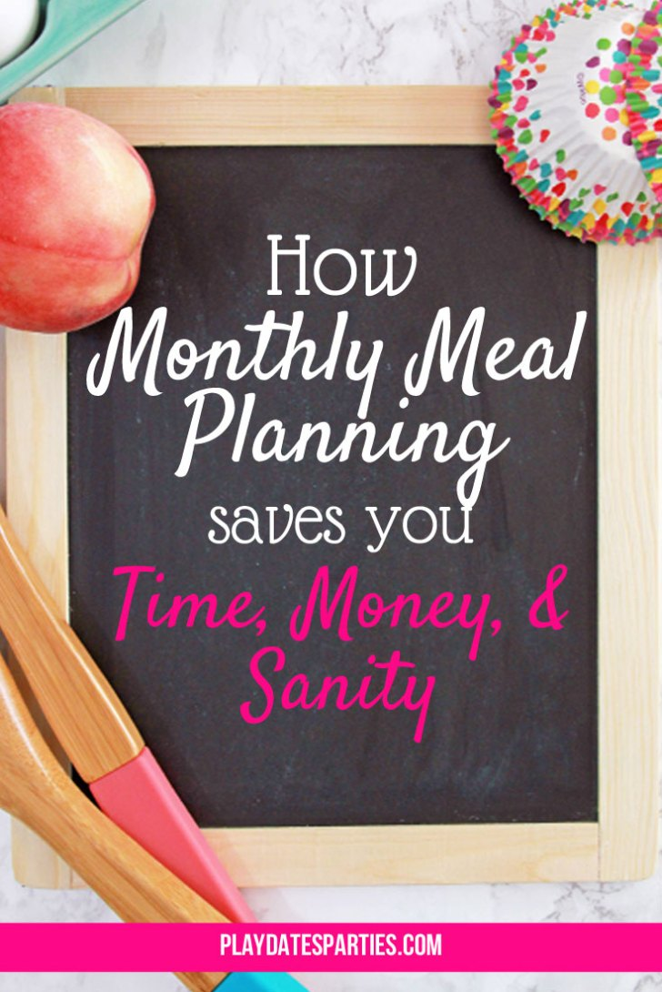 I've been monthly meal planning for the better part of four years and have no plans to stop. Find out how why it's been a total game-changer for our family's time and sanity. #cooking #mealplanning #organization