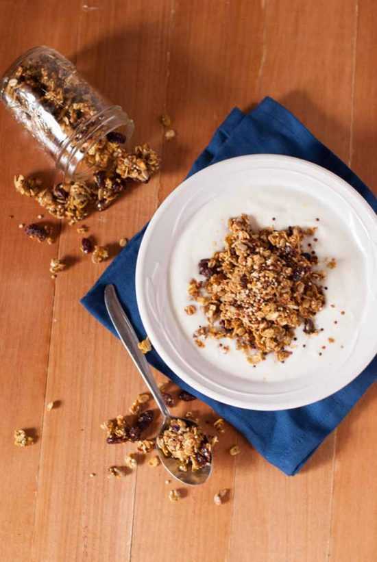 Quinoa Pumpkin Spice Granola by A Cookie Named Desire