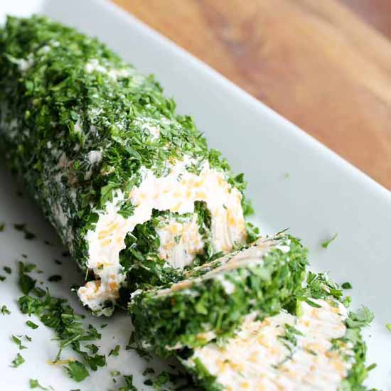 Appetizers for a Fall Party: Cheese Roll with Herbs by The Country Chic Cottage
