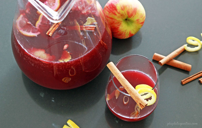 No list of holiday cocktails is complete without mulled wine, and this mulled wine spritzer recipe is an easy and refreshing way to get the best flavors of mulled wine without having to turn on the stove.