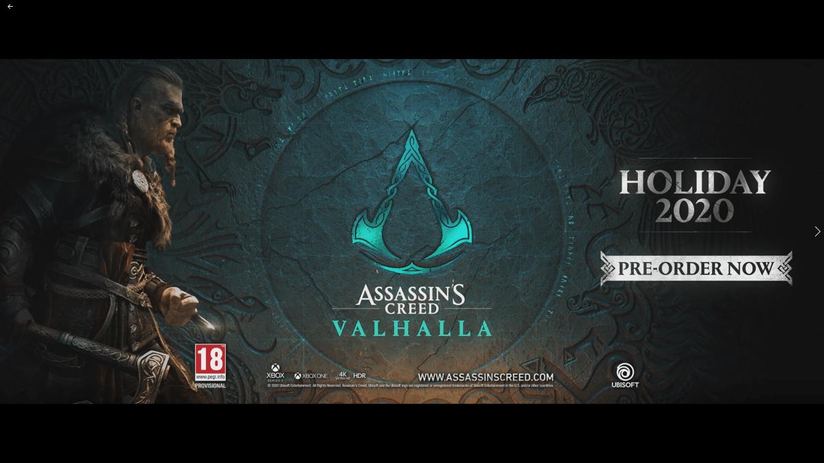 Mira el trailer de estreno mundial de Assassin's Creed Valhalla