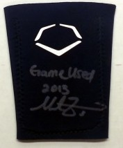 Mike Zunino Signed Game Worn Evo Shield