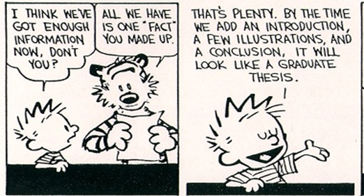 Calvin and hobbes research thesis