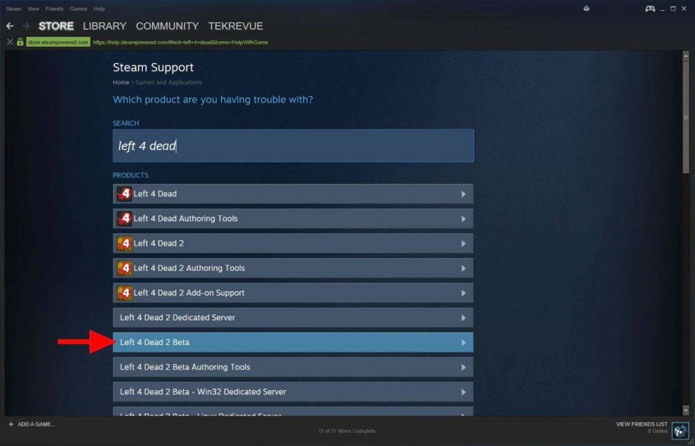 steam support game search