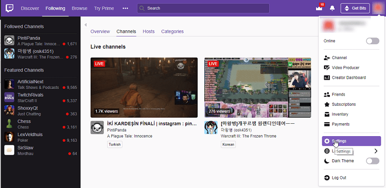 Change Your Name on Twitch