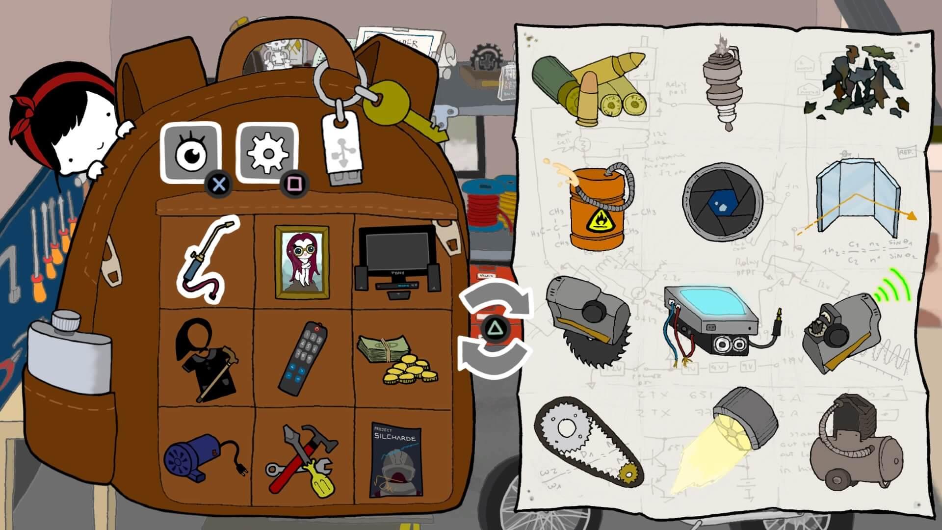 Nika's inventory screen