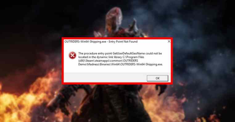 Outriders: Win64-Shipping.exe System Error [Solved]