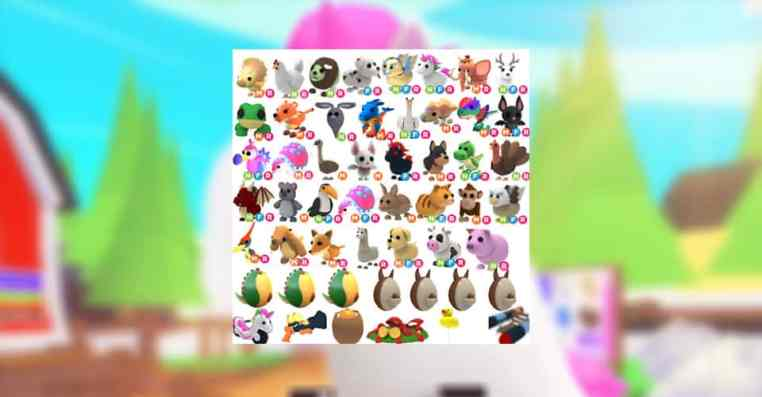 All Pets Value List in Adopt Me