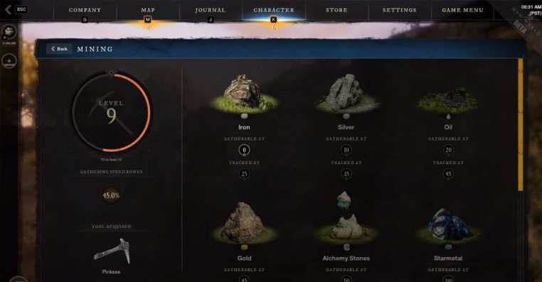 How To Track Resources in New World