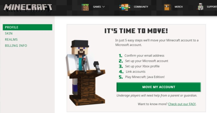 How To Migrate Minecraft Account To Microsoft