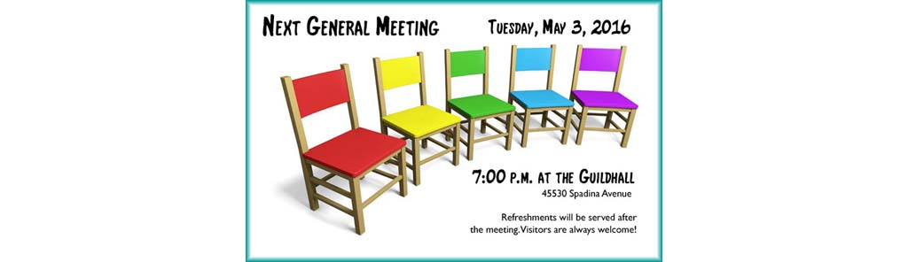 May 3 General Meeting