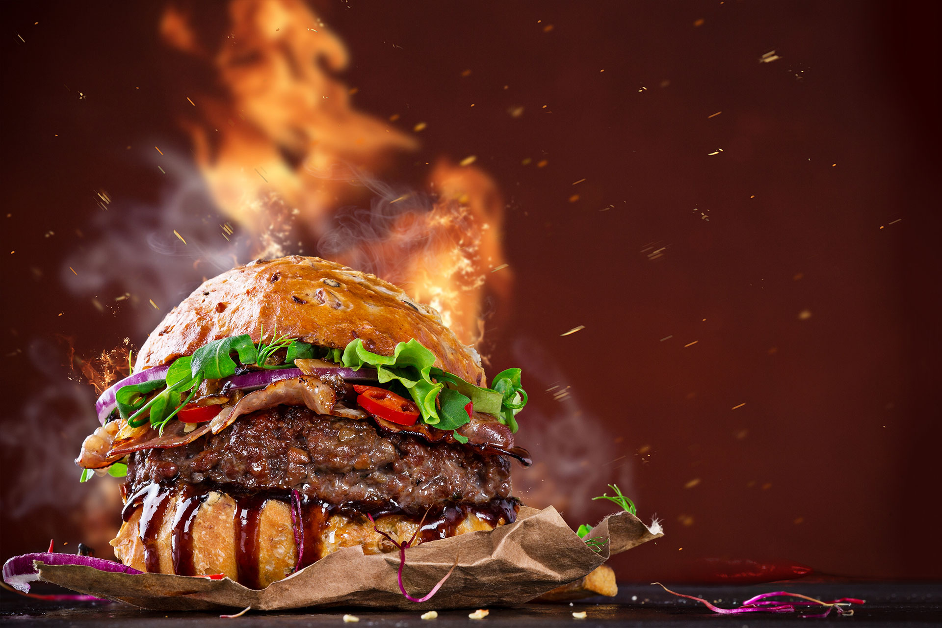 flaming-burger