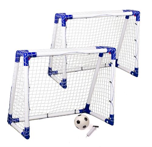 2 stk Target Sport Junior Fodboldmål & Bold 110 x 90 cm