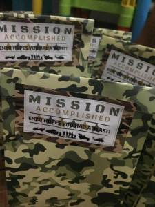 Playful Life with Kids DIY: Army Themed Birthday Party 5