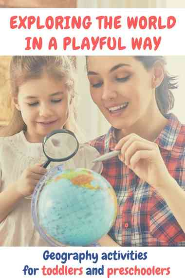 If you are looking for interesting geography activities for toddlers and preschoolers, here is a list of ideas to inspire you! | Teaching young kids about the world | Geography toys for toddlers | Geography resources for toddlers | Geography toys for preschoolers | Geography materials for preschoolers