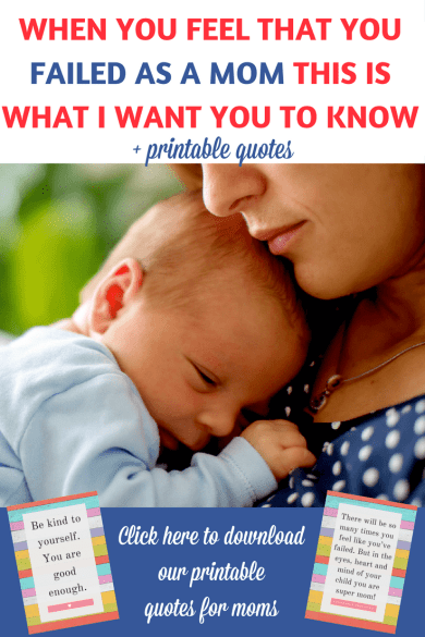 Affirmations for moms: When you feel that you failed as a mom please read this! It might change the way you see things and bring a smile on your face! | Quotes for moms | Inspirational quotes for moms | Motivational quotes for mothers | Affirmations for moms | Mom guilt