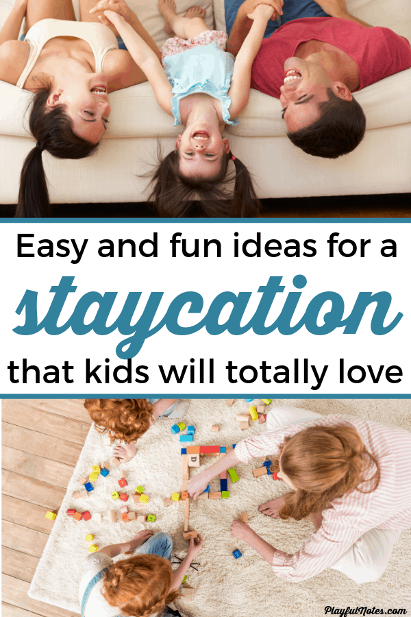 Check out this list of awesome family staycation ideas! They are easy to put into practice and will bring a lot of fun to the whole family! --- Staycation with kids | Staycation ideas for kids | Spring break staycation | Family fun #FamilyLife