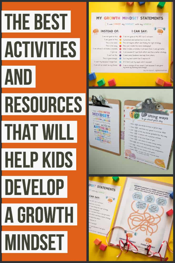 Growth mindset activities for kids: Teaching children about the growth mindset is so important! Here is a complete guide of activities and resources that are great for kids all ages. #GrowthMindset #RaisingKids #PositiveParenting #ParentingTips