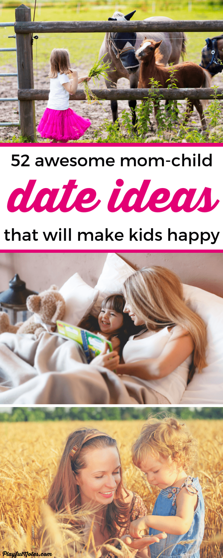 Discover a year's worth of awesome mom-child date ideas for enjoying happy moments with your kids! You'll certainly find some good inspiration on this list and your child will love these ideas! --- Mom-son date | Mom-daughter date | Mom-child date | Raising kids | Parenting #ParentingTips