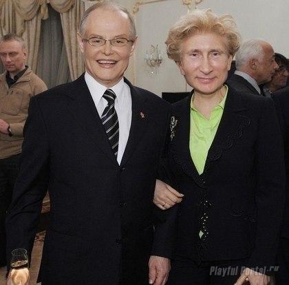 Елена Путина и Владимир Малышев