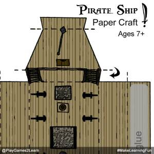 PlayGames2Learn.com - Pirate Ship Paper Craft