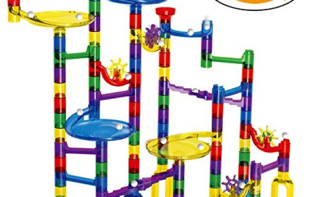 Marble Run Toy Meland 122 Pcs Marble Game Stem Learning