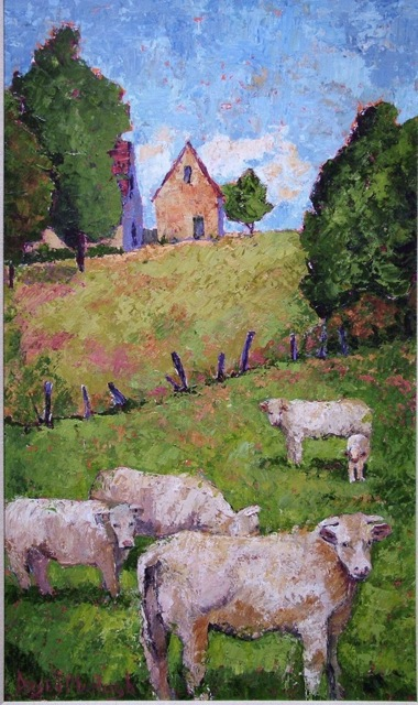 Think on what is good and pure and lovely - a new blog post and painting by Dorsey McHugh