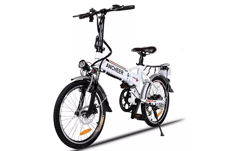 Electric Mountain Bike Wheel and Lithium-Ion Battery Premium Full Suspension and Shimano 21 Speed Gear by Speedrid