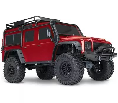 Traxxas 1 10 Scale TRX-4 Scale and Trail Crawler with 2.4GHz TQi Radio, Red