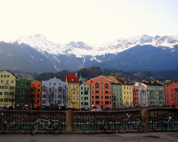 Colorful houses in Innsbruck, Austria