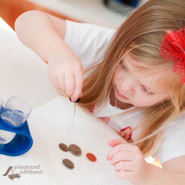 Drops Coin Preschool Stem Activity