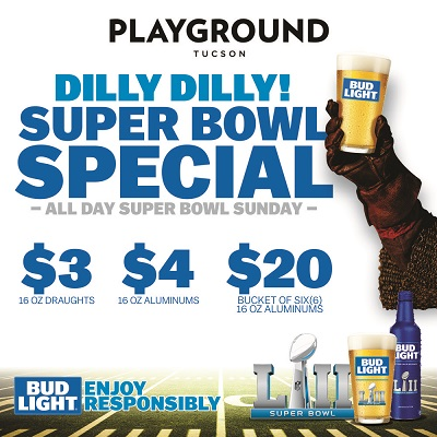 SUPER BOWL LII PARTY AT PLAYGROUND BAR AND LOUNGE