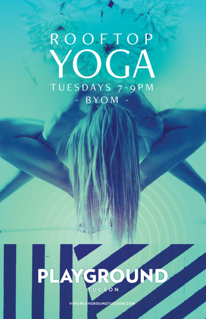 ROOFTOP YOGA WITH YOGAOASIS AT PLAYGROUND BAR AND LOUNGE