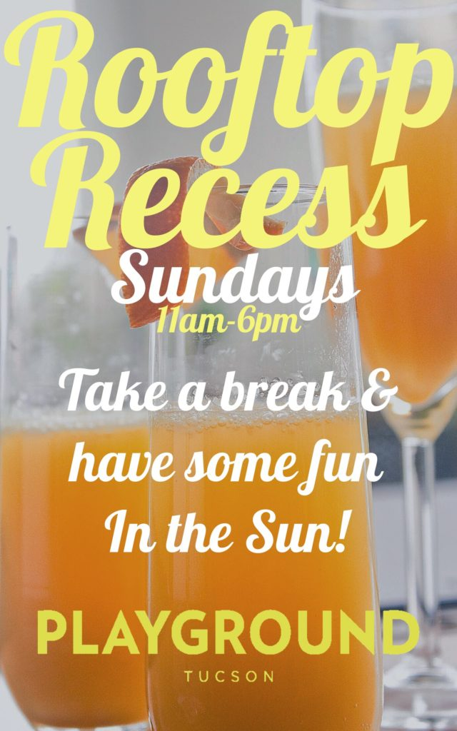 ROOFTOP RECESS SUNDAY BRUNCH AT PLAYGROUND BAR AND LOUNGE