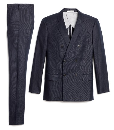 April - Double Breasted Linen Suit in Navy