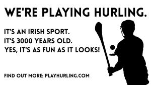 hurling recruitment poster